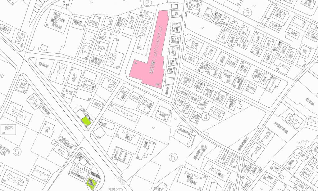 レクセルマンション地図