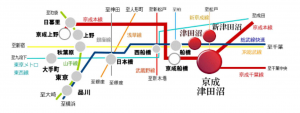 アクセス良好な京成津田沼駅