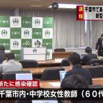 幕張本郷中学校の60歳の教員がコロナウイルスに感染!